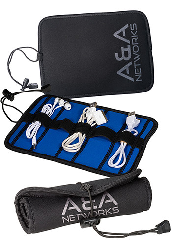 Bulk Neoprene Roll-Up Tech Cases with Cord Closure