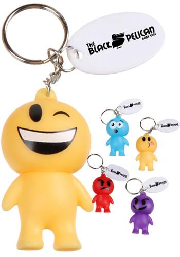 Rubber Emoji Man Keychains | EDEMJ157