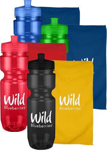 22 oz. Workout Bottle and Towel Sport Sets | CPSBP100