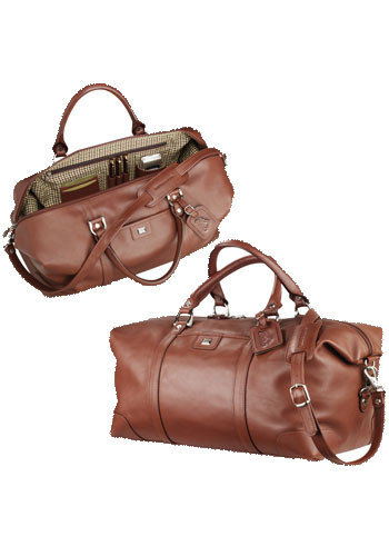 Customized Cutter & Buck Leather Weekender Duffle Bags