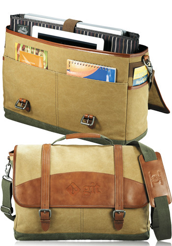 Personalized Cutter & Buck Legacy Cotton Compu-Messenger Bags