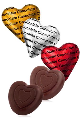 Custom Delicious Belgian Chocolate Hearts