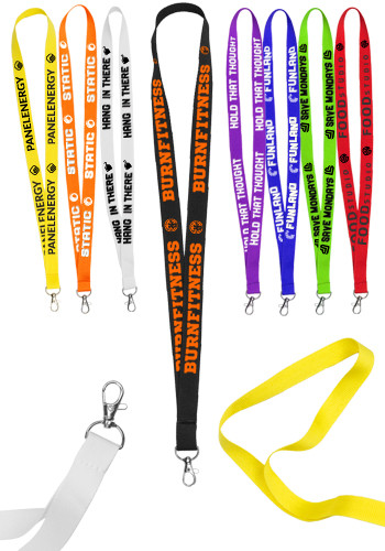 Lobster Clip Polyester Lanyards