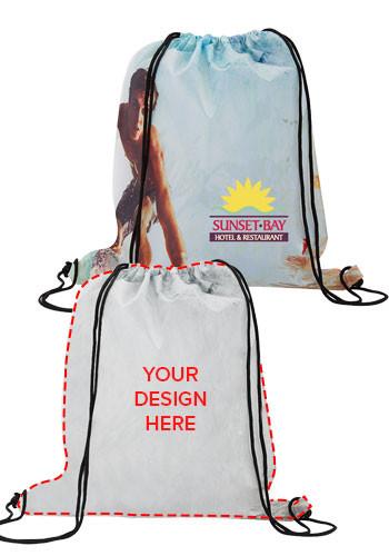 Bulk Dye-Sublimated Drawstring Backpacks