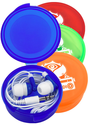Wholesale Ear Buds in Round Case