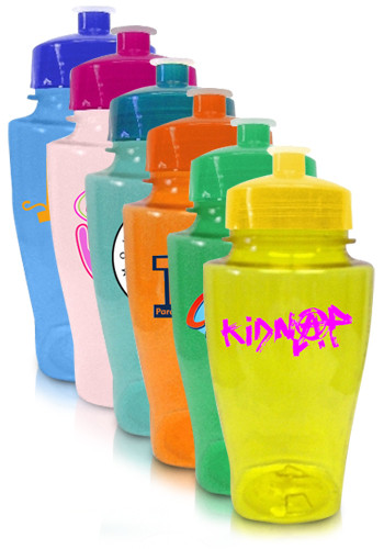 Customized 16 oz. Plastic Water Bottles