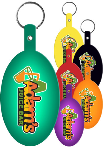 Personalized Large Oval Flexible Key Tags