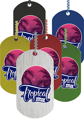 Promotional Express Vibraprint Double Sided Dog Tags
