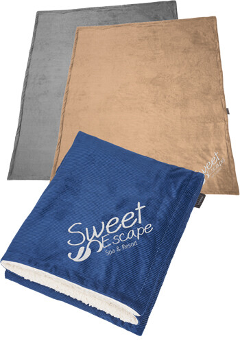 Promotional Field and Co Corduroy Sherpa Blanket