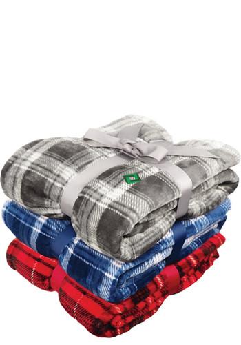 Flannel Plush Pattern Blankets   APSPB9400