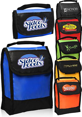 Folding Identification Lunch Bags   LUN15
