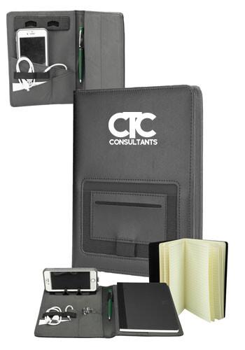 Personalized Front Pocket Fabric Portfolios