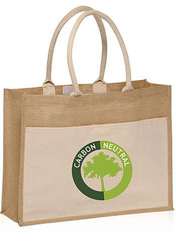 Canvas Pocket Jute Tote Bags