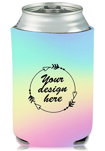 Wholesale Collapsible Can Cooler Cotton Candy Print