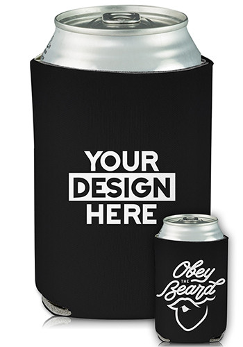 Wholesale Collapsible Can Cooler Obey The Beard Print