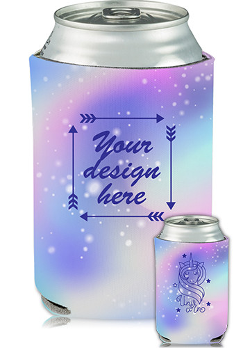 Bulk Collapsible Can Cooler Unicorn Print