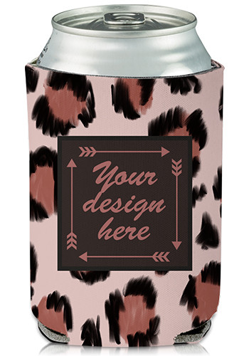Collapsible Wild Cat Print Custom Can Cooler   KZ401