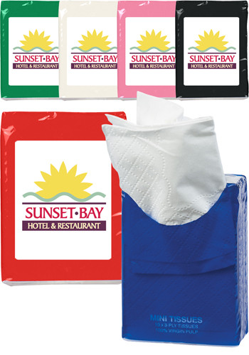 Wholesale Full Color Mini Tissue Packets