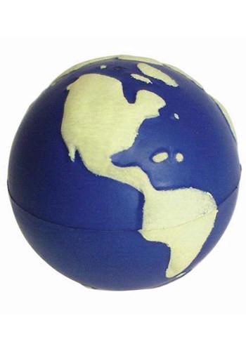 Customized Glow in the Dark Earth Stress Balls