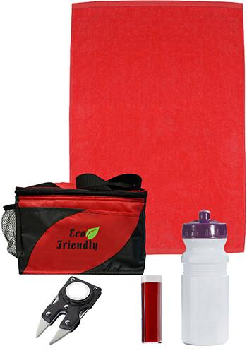 Golf Kit in Striped Cooler Bag | MGGOLFKIT
