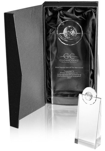 Custom Golf Pinnacle Optical Crystal Awards