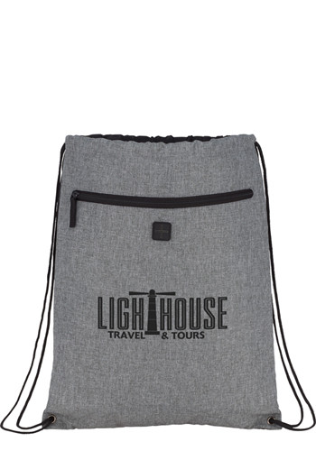 Graphite Drawstring Sportspacks with Earbud | SM5877
