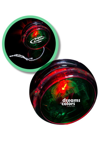 2 3/8-in. Green and Clear LED Yo-Yos | WCLIT350