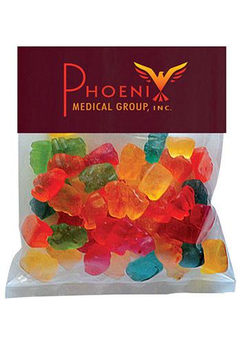 Custom Gummy Bears in Small Header Pack