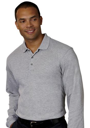 Harriton Long-Sleeve Polo Shirts | M265L