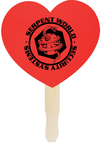 Customized Heart Shaped Hand Fans