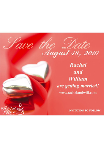 Hearts Save the Date Magnets | MGS0217H