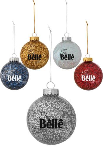 Personalized Holiday Glitz Ornament