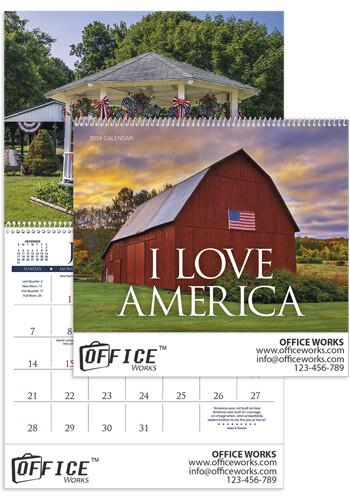 Customized I Love America Triumph Calendars