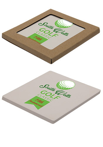 Personalized Square Absorbent Stone Coasters