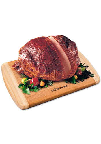 Personalized Bamboo Cutting Boards with Spiral-Sliced Whole Ham
