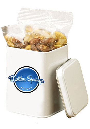 Custom Canister Tins with Deluxe Mixed Nuts