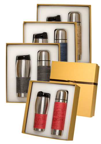Wholesale Casablanca™ Stainless Steel Thermos & Tumbler Gift Set