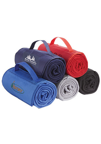 Personalized Imprinted Fleece Roll Up Blankets