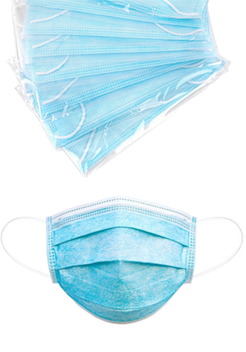 Customized Individually Polybagged 3-Ply Face Masks