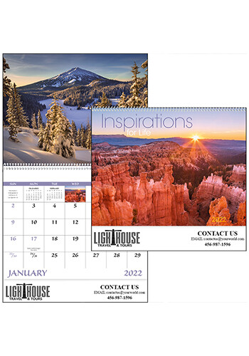 Wholesale Inspirations for Life - Spiral Calendars