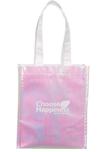 Promotional Iridescent Non-Woven Gift Totes