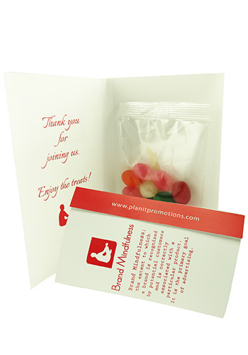 Personalized Jelly Beans in  Calling Cards