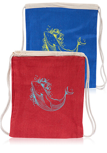 Jute Drawstring Backpacks