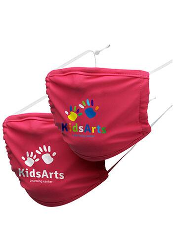 Kids 3-Layer Reusable Custom Face Mask printed with Logo | MA12K