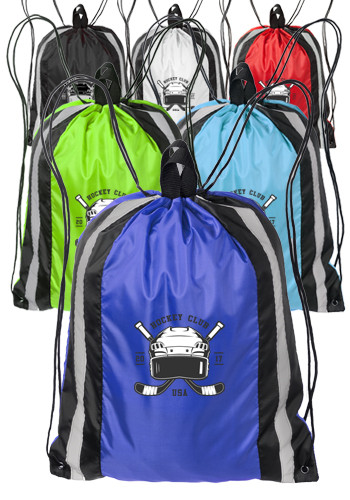 Reflector Drawstring Backpacks