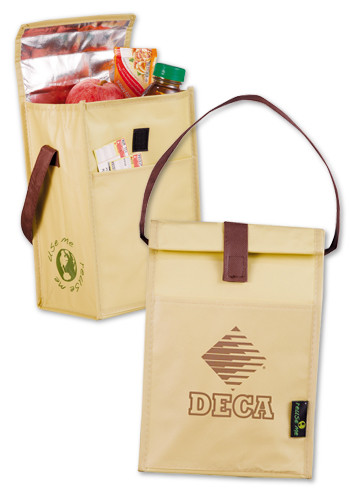 Customized Laminated Non-Woven Brown Baggin' It Lunch Bags