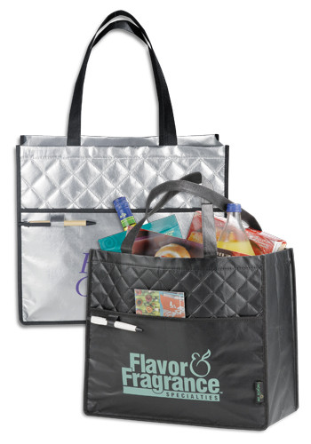 Custom Laminated Non-Woven Quilted Carry-All Tote Bags