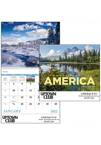 Personalized Landscapes of America English - Spiral Calendars