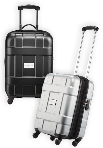Personalized Luxe Hardside 4-Wheeled Carry-On Luggage