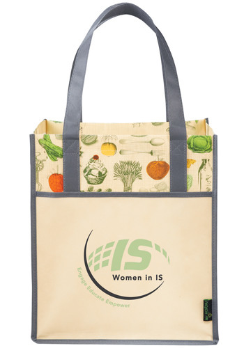 Wholesale Laminated Non-Woven Vintage Grocery Tote Bags